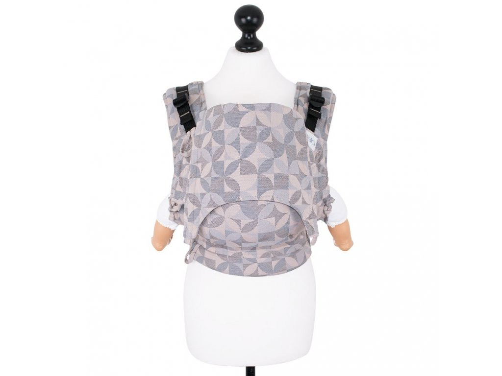 babysize fidella fusion baby carrier with buckles kaleidoscope sand