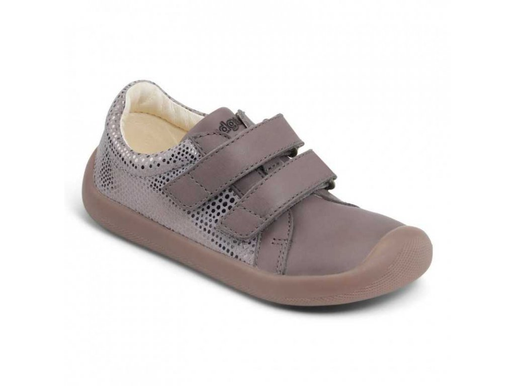 Bundgaard celoroční barefoot obuv Walker Velcro Gravel 970
