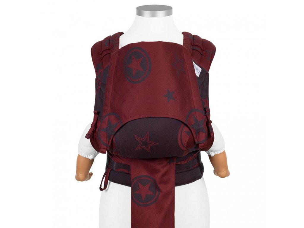 ergonomické nosítko fidella flyclick baby carrier classic outer space ruby red