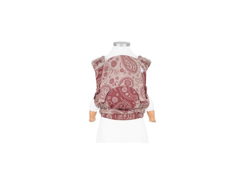 ergonomické nosítko fidella flyclick baby carrier classic persian paisley ruby red