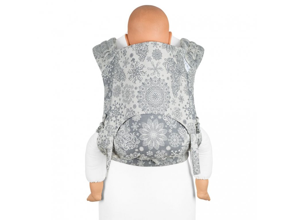 fidella flyclick plus baby carrier classic iced butterfly smoke
