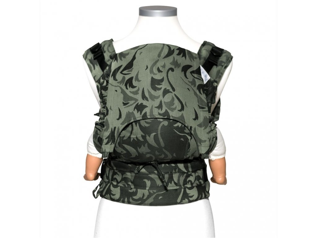 baby size fusion baby carrier with buckles classic wolf reed green