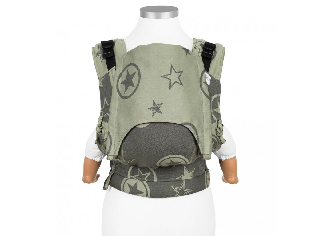 baby size fusion baby carrier with buckles classic outer space reed green