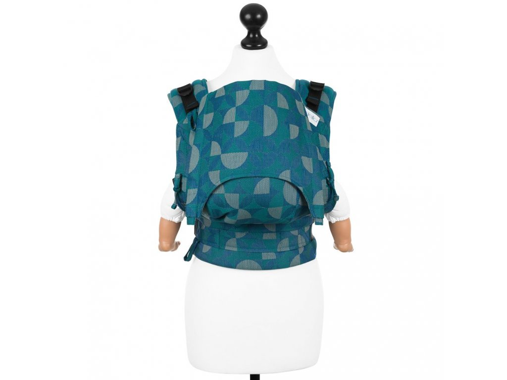 baby size fusion baby carrier with buckles kaleidoscope ocean teal