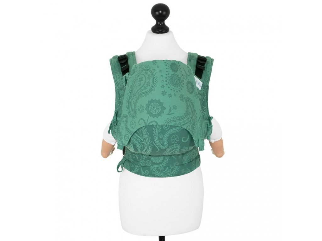 babysize fidella fusion babycarrier with buckles persian paisley jungle