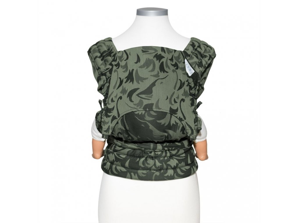 nosítko Fidella baby size fly tai mei tai baby carrier classic wolf reed green