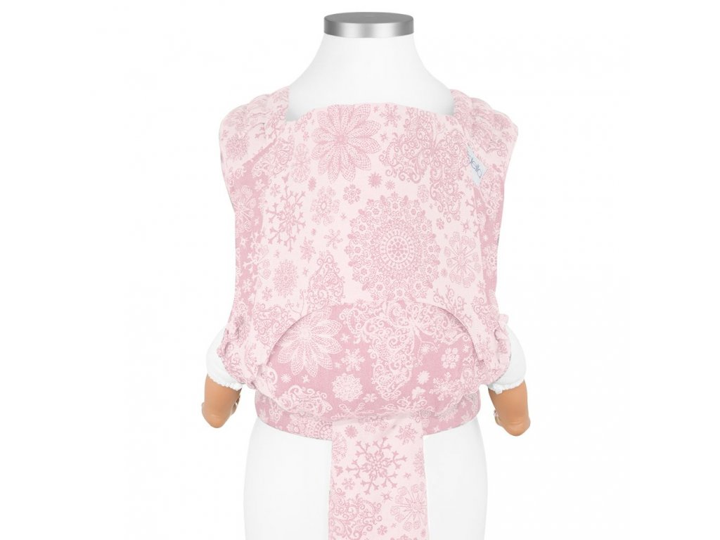 nosítko fidella new size fly tai mei tai baby carrier classic iced butterfly pale pink
