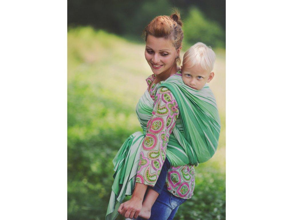 šátek na nošení dětí Little Frog Woven wrap Bamboo Tsavorite size 5 5643 1