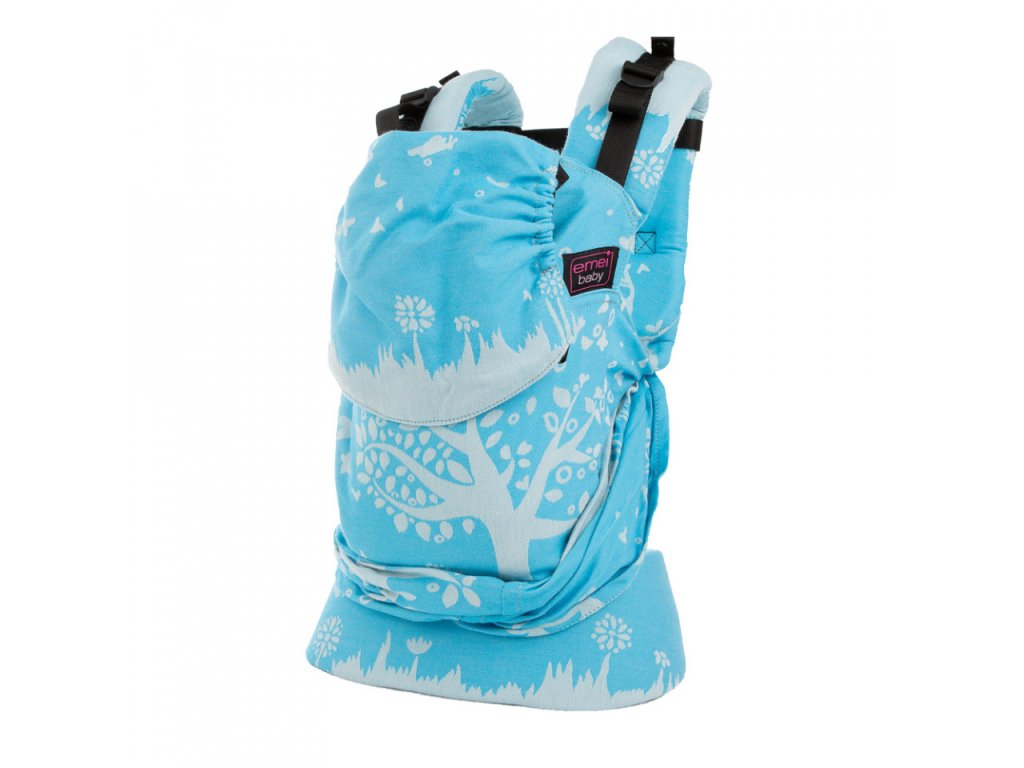 ergonomické nosítko emeibaby Treemei Turquoise White