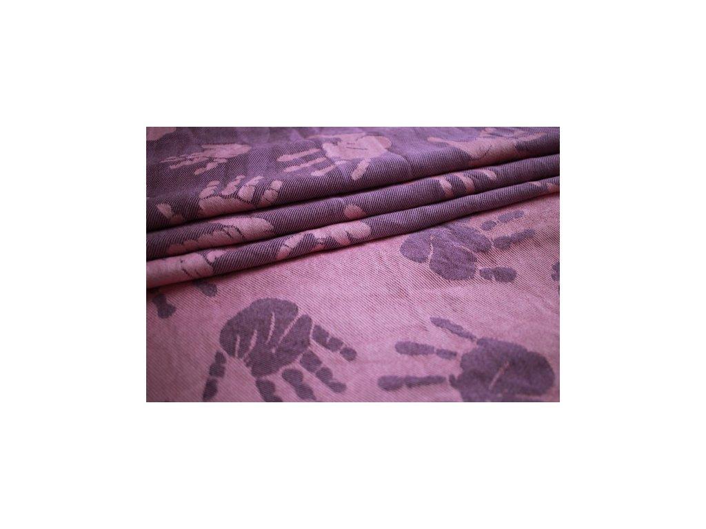 Yaro Hands Rose Purple Bamboo žakárový šátek s bambusem