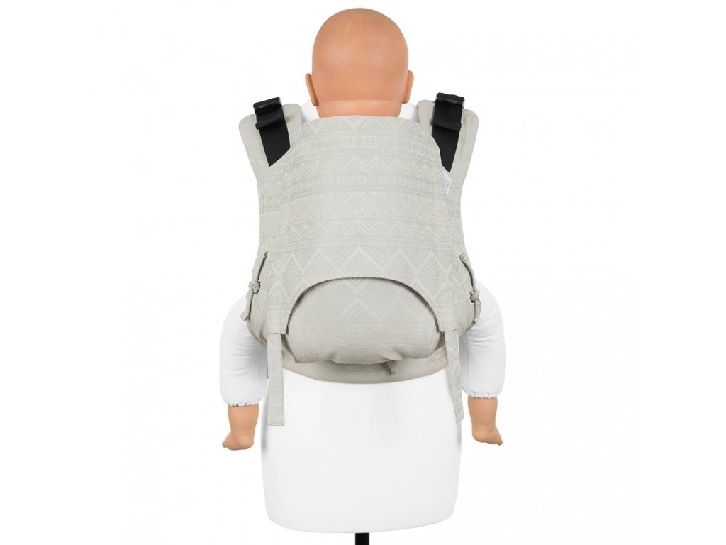 fidella fusion 2 0 baby carrier with buckles classic cubic lines pale grey toddler