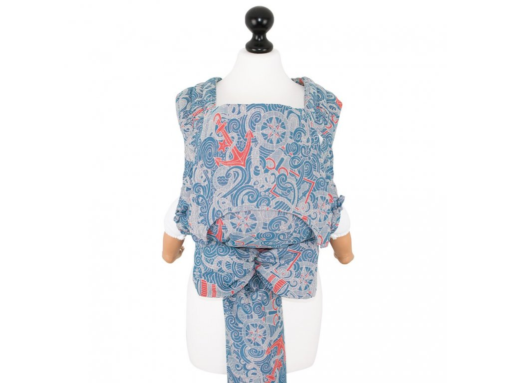 baby size fly tai mei tai baby carrier classic sea anchor maritime blue