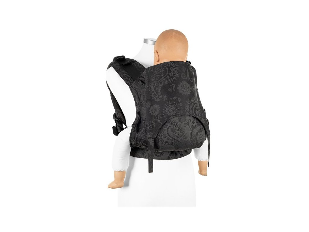 baby size fusion baby carrier with buckles classic persian paisley charming black