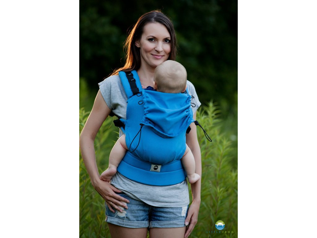 eng pl Little Frog Ergonomic Carrier Turquoise Herringbone 6495 1
