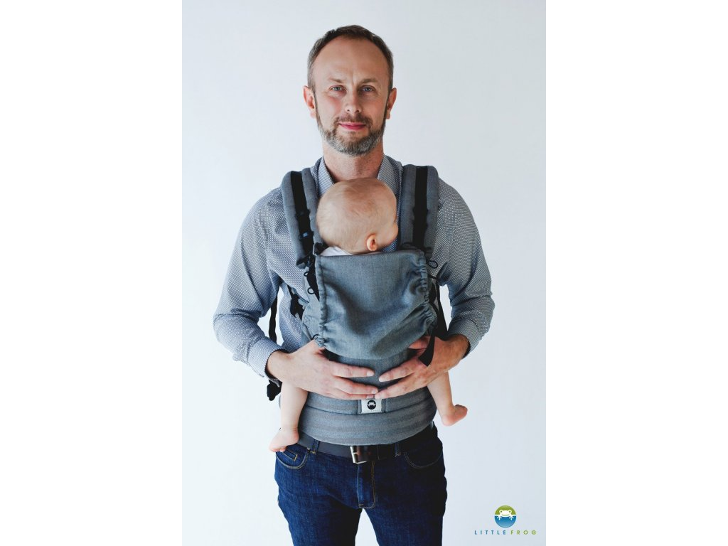 eng pl Little Frog Ergonomic Carrier Graphite Herringbone 6352 2