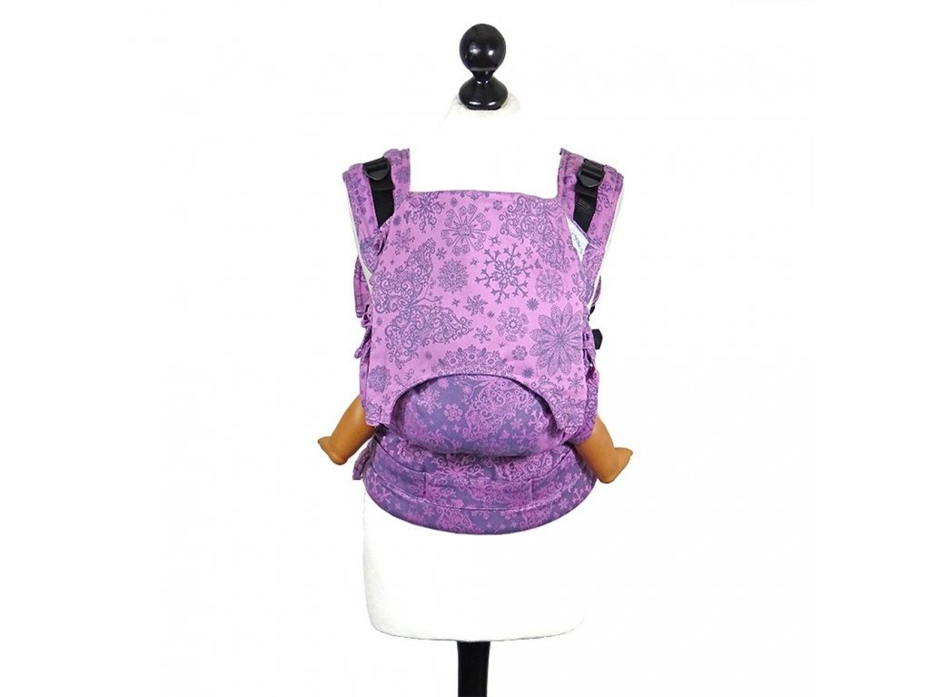 baby size fidella fusion baby carrier with buckles iced butterfly violet