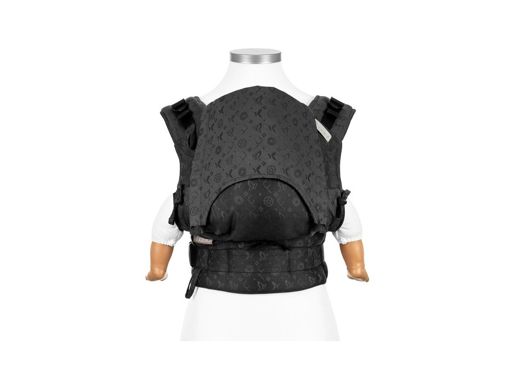 fusion fullbuckle baby carrier saint tropez charming black baby