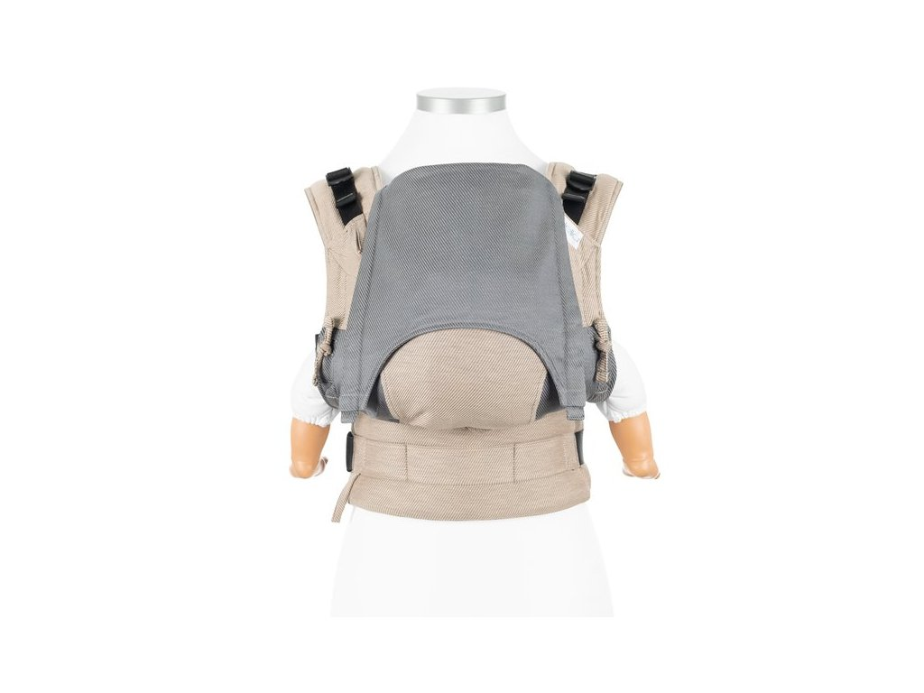 baby size fusion baby carrier with buckles classic lines beige