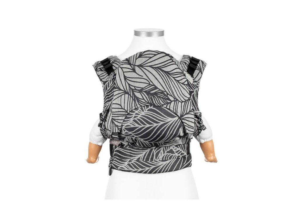 Ergonomické nosítko Fidella Fusion BABY SIZE - Dancing Leaves Black & White