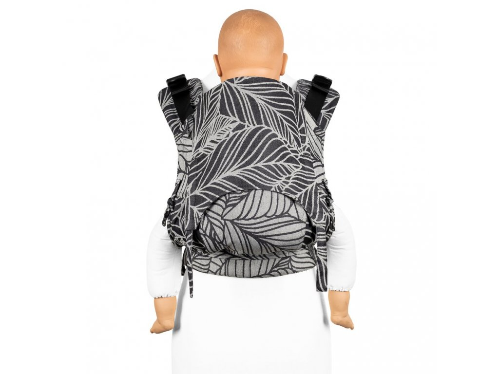 Ergonomické nosítko Fidella Fusion TODDLER SIZE 2.0 – Dancing Leaves Black & White