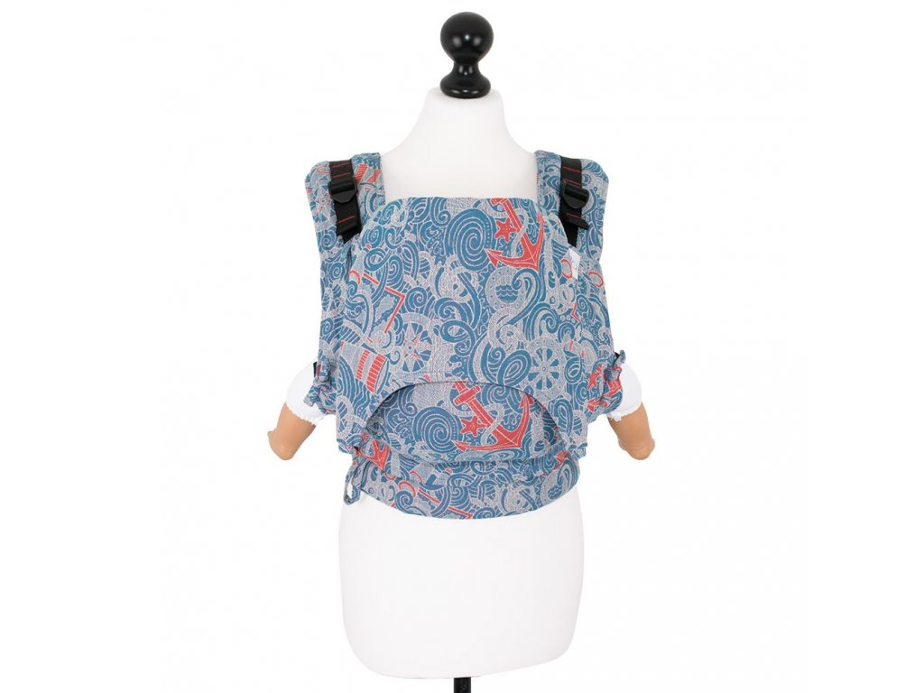 baby size fusion baby carrier with buckles sea anchor maritime blue