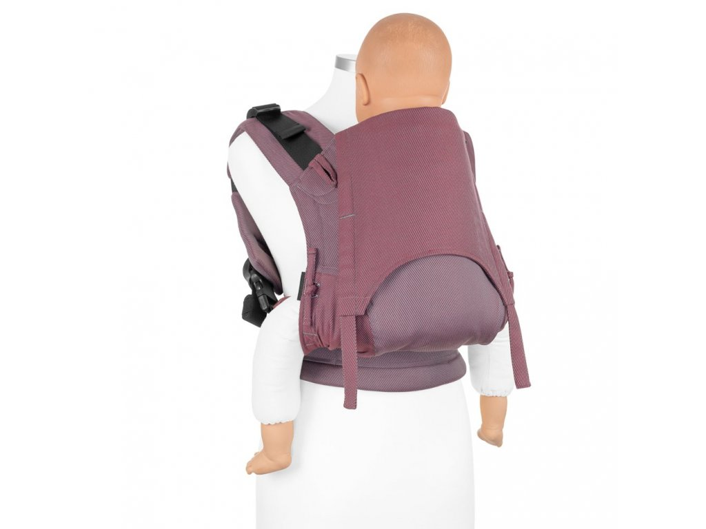 baby size fusion baby carrier with buckles classic lines red