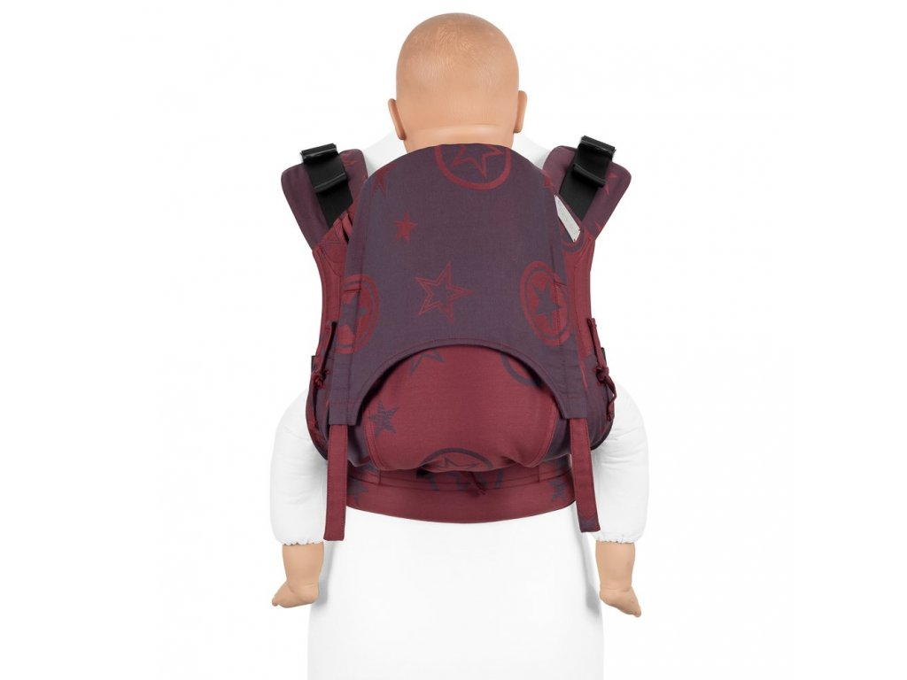Ergonomické nosítko Fidella Fusion TODDLER SIZE 2.0 – Outer Space Ruby Red