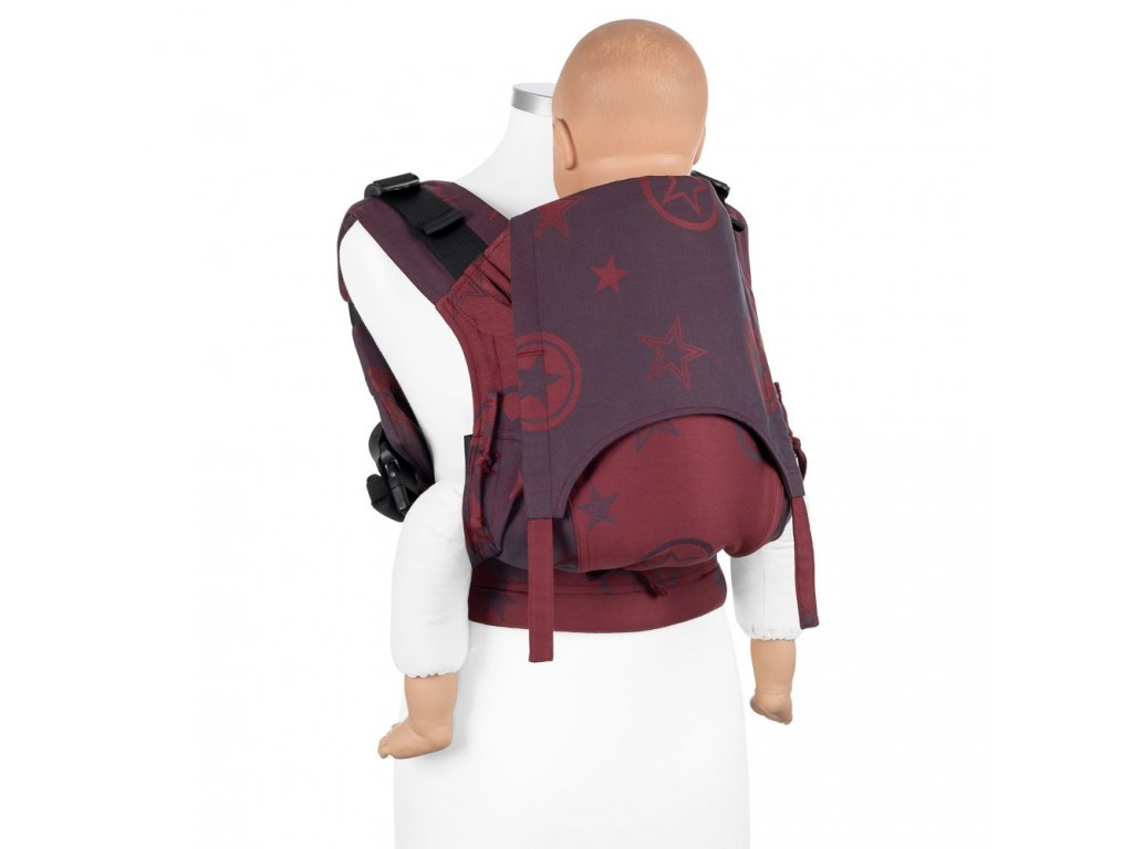 baby size fusion baby carrier with buckles classic outer space ruby red