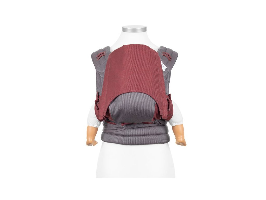 baby size fly tai mei tai baby carrier classic lines red