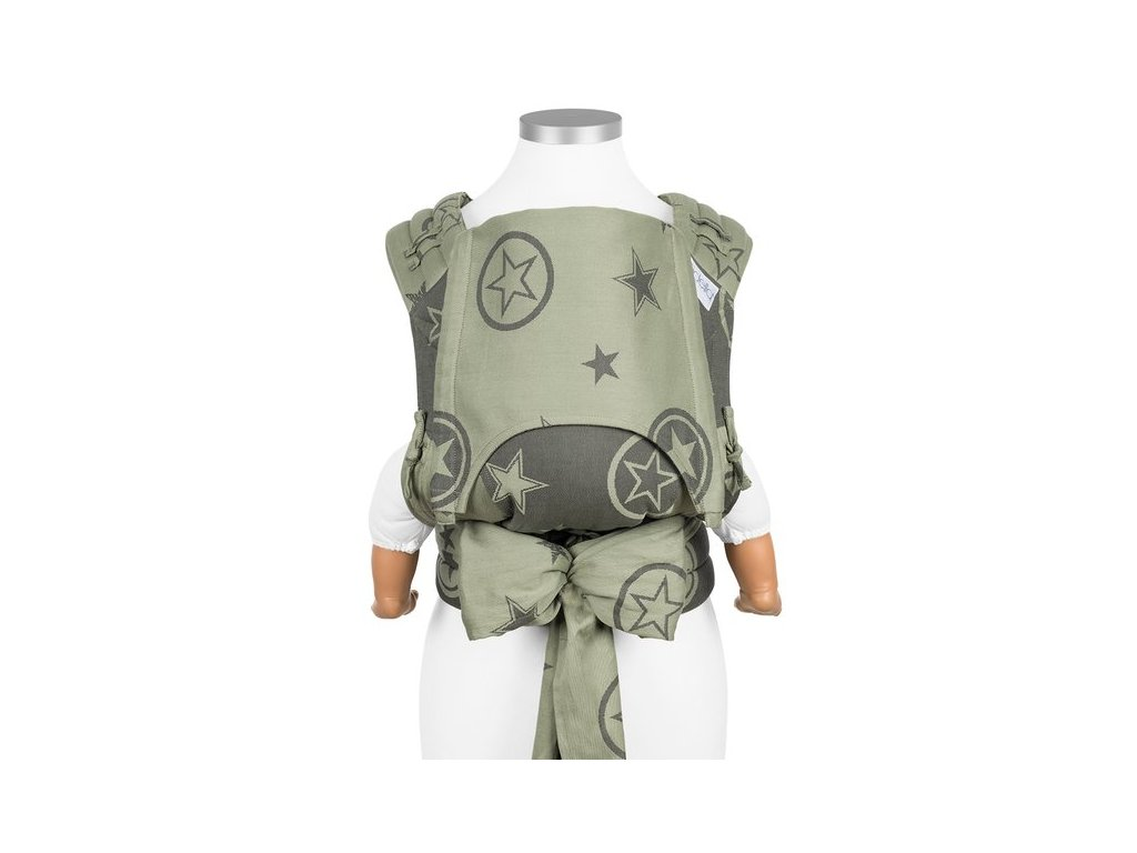 baby size fly tai mei tai baby carrier classic outer space reed green