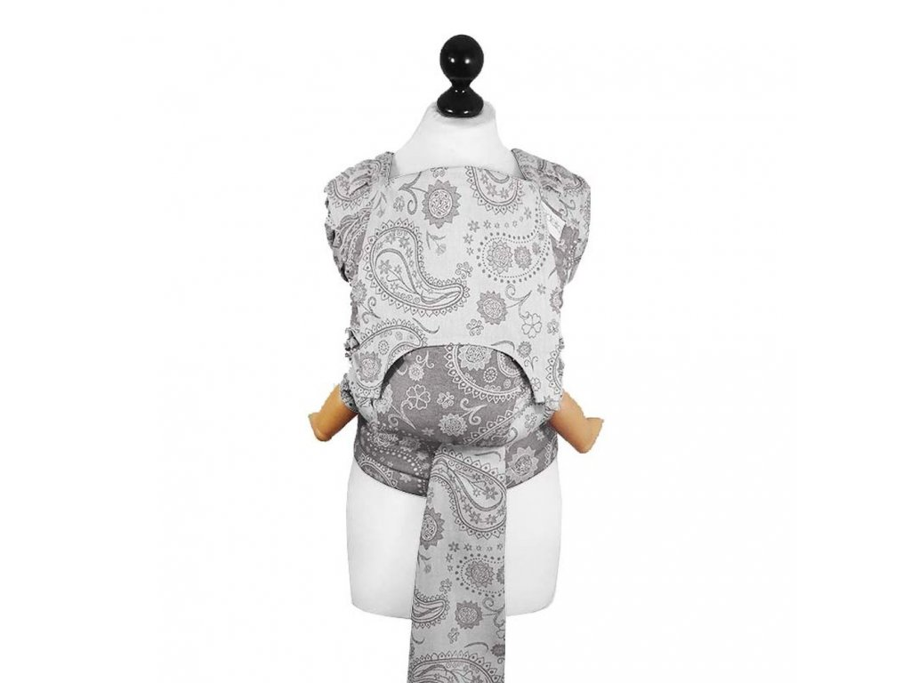 Fidella - Fly Tai - Mei Tai – Toddler– PERSIAN PAISLEY - SMOKE