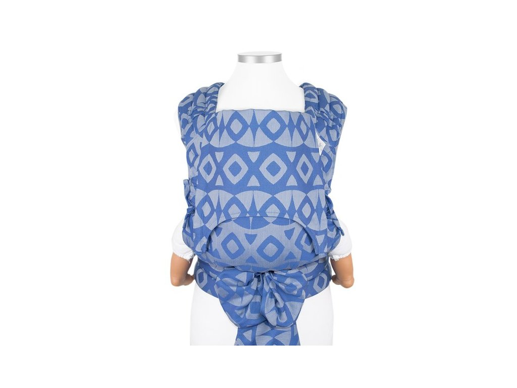 baby size fly tai mei tai baby carrier classic night owl smooth blue