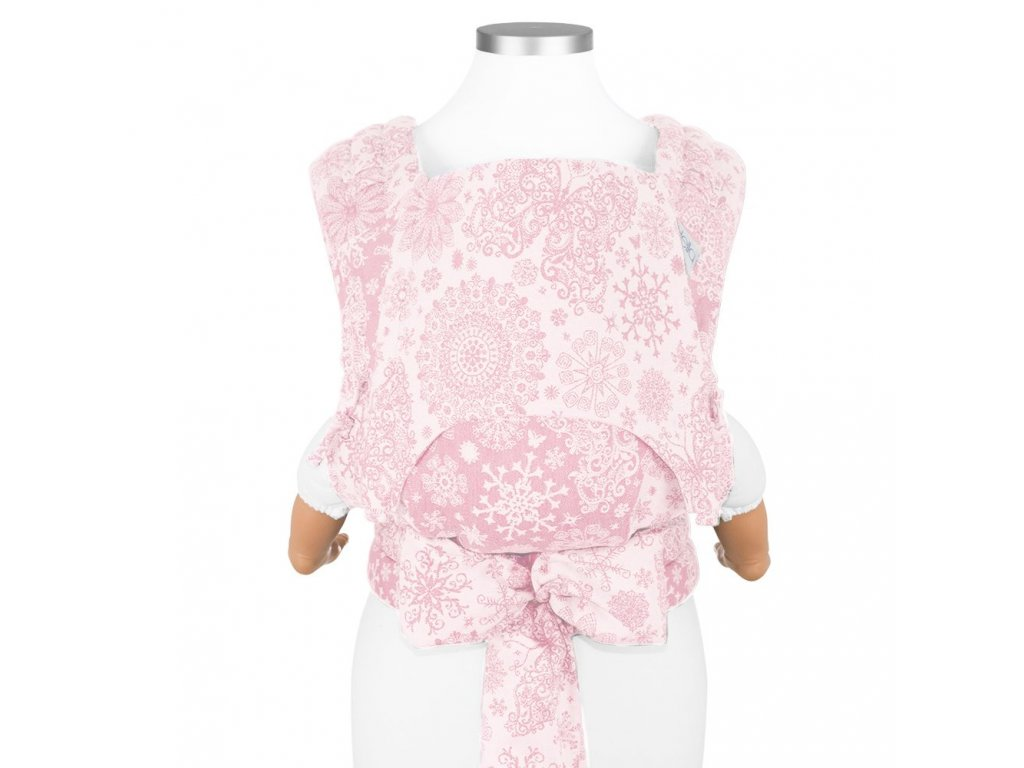 nosítko fidella baby size fly tai mei tai baby carrier classic iced butterfly pale pink