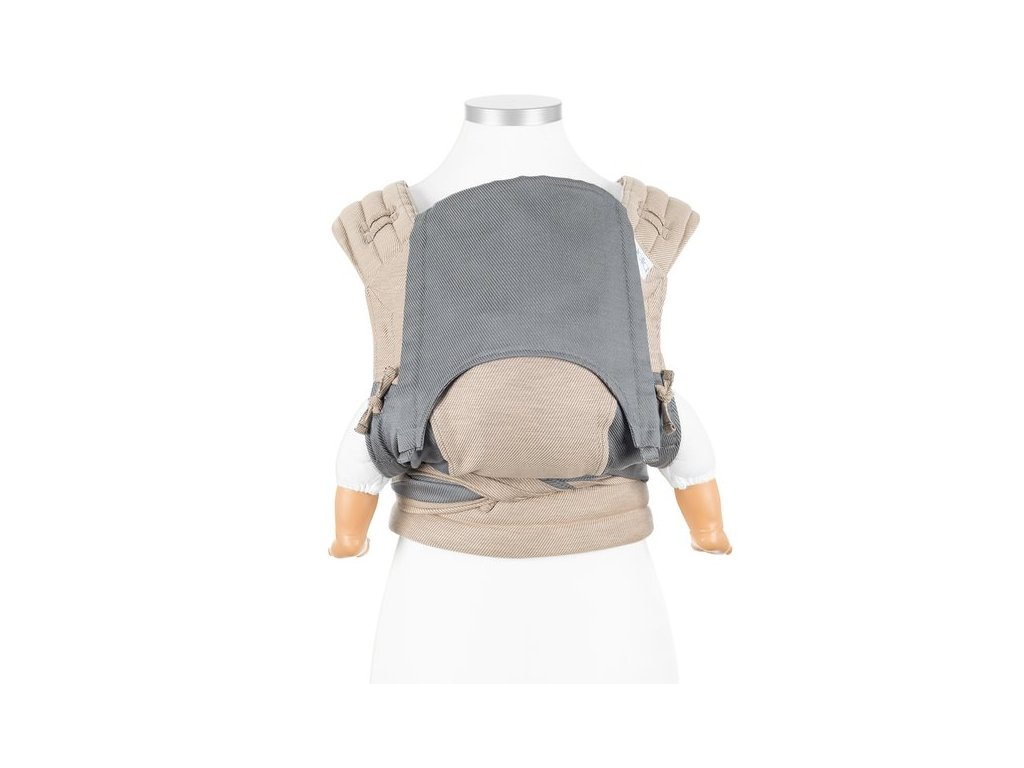 baby size fly tai mei tai baby carrier classic lines beige