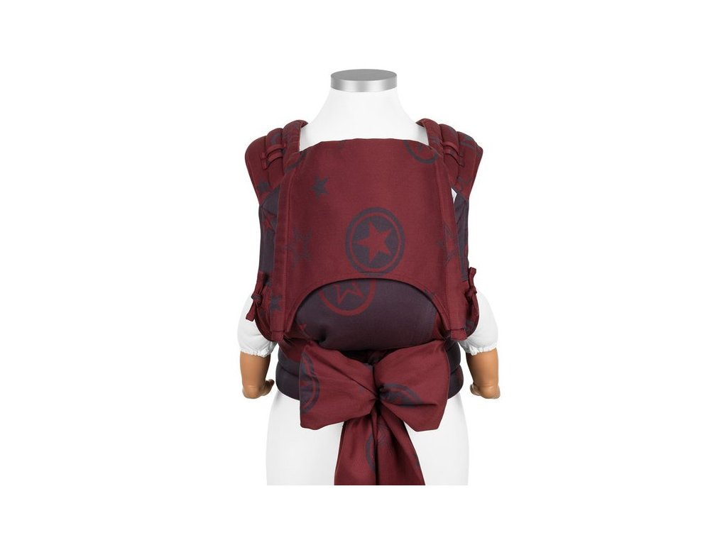 baby size fly tai mei tai baby carrier classic outer space ruby red