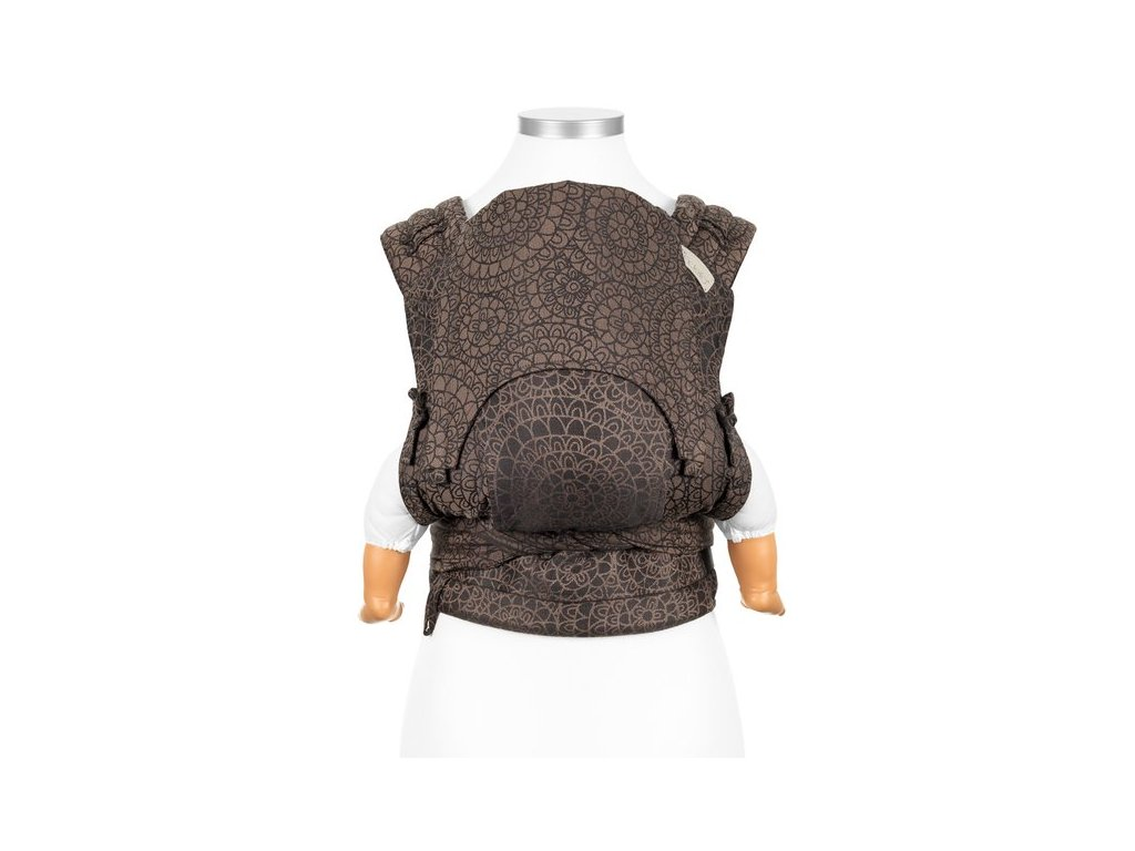 flyclick halfbuckle baby carrier mosaic mocha brown baby