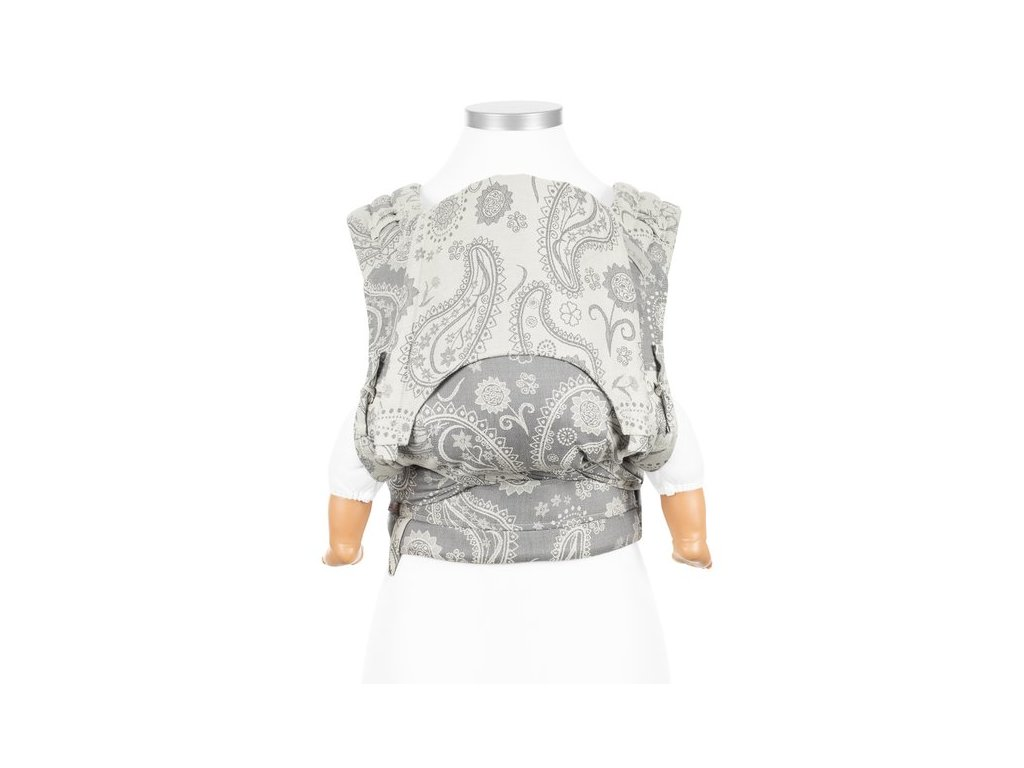 flyclick halfbuckle baby carrier persian paisley smoke baby