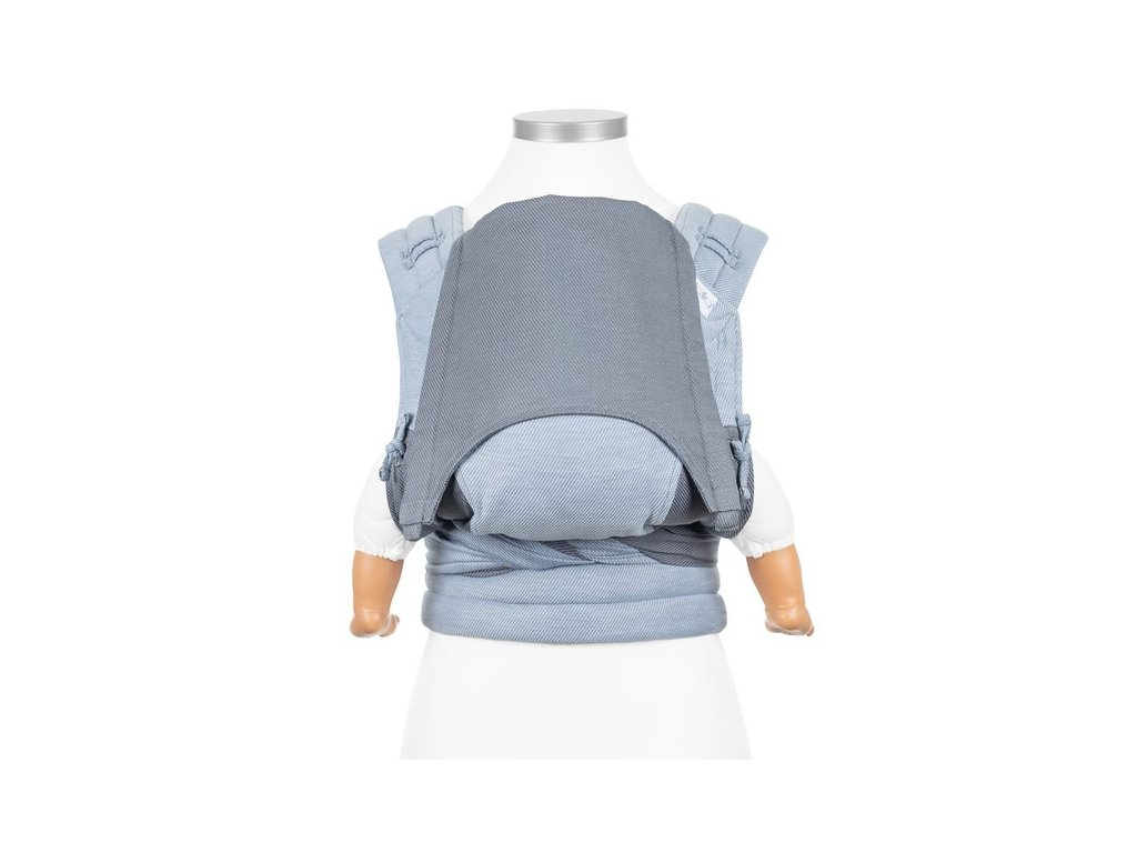 fidella flyclick baby carrier classic lines light blue