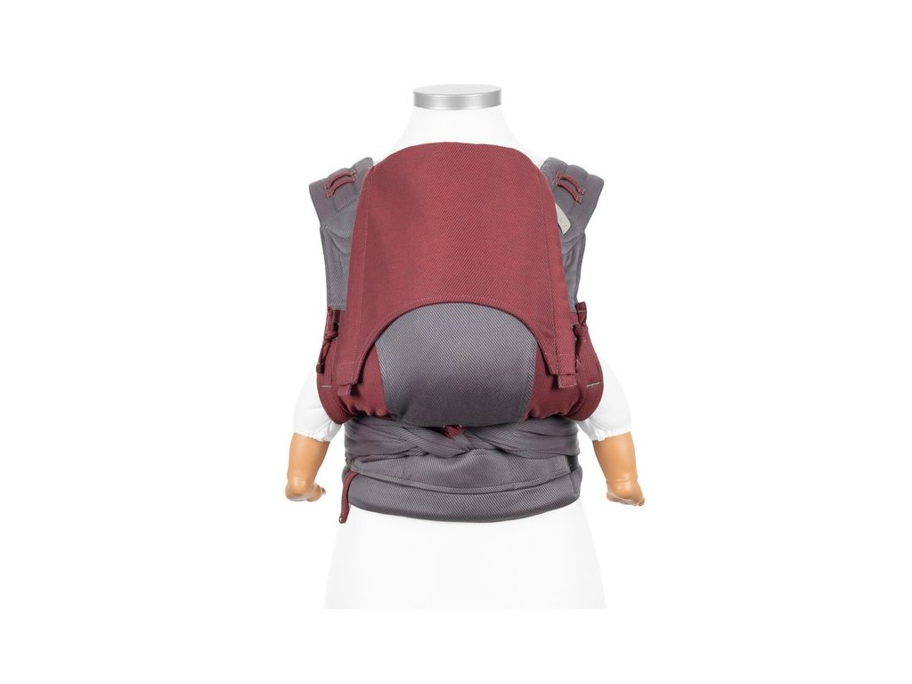 ergonomické nosítko fidella flyclick baby carrier classic lines red