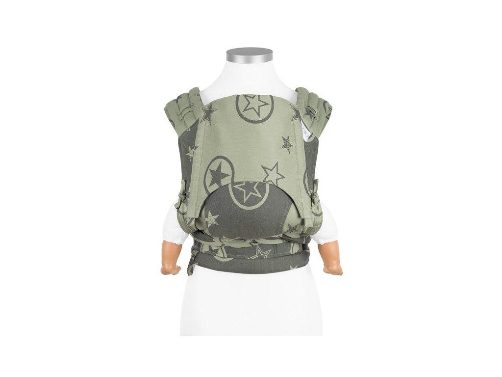 Ergonomické nosítko Fidella FlyClick Baby - Outer Space Reed Green