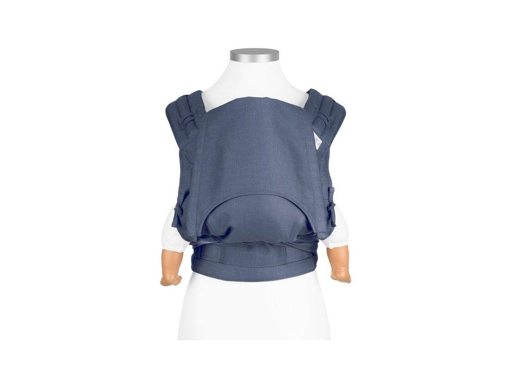 ergonomické nosítko fidella flyclick baby carrier classic chevron denim blue