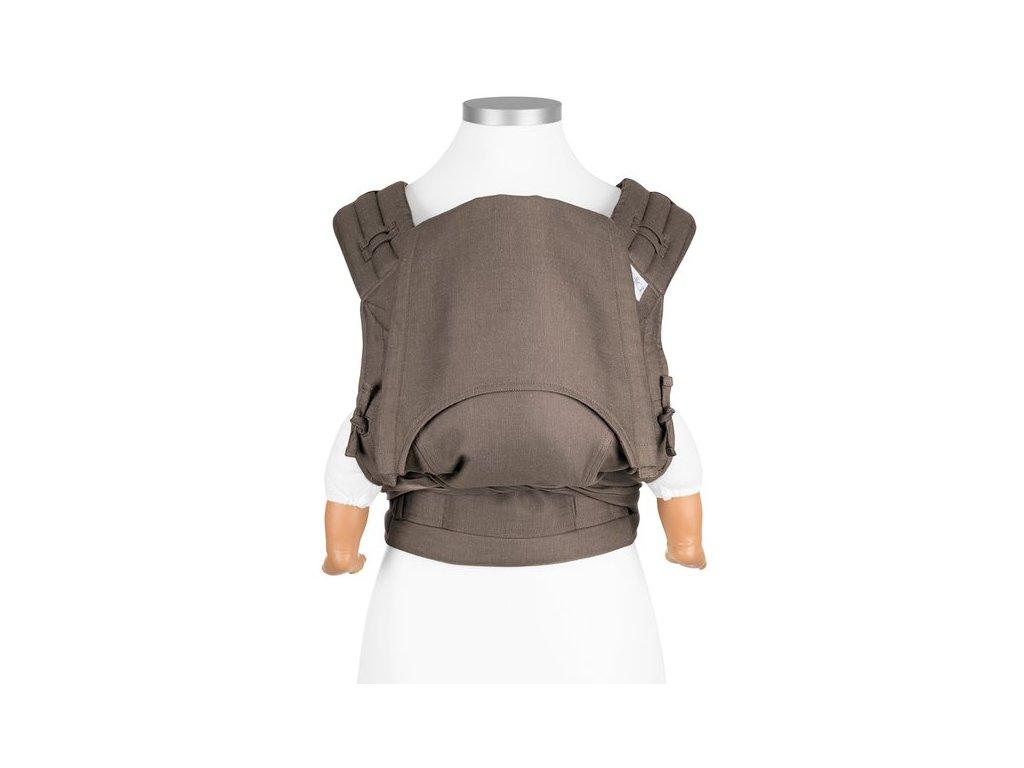 ergonomické nosítko fidella flyclick baby carrier classic chevron walnut