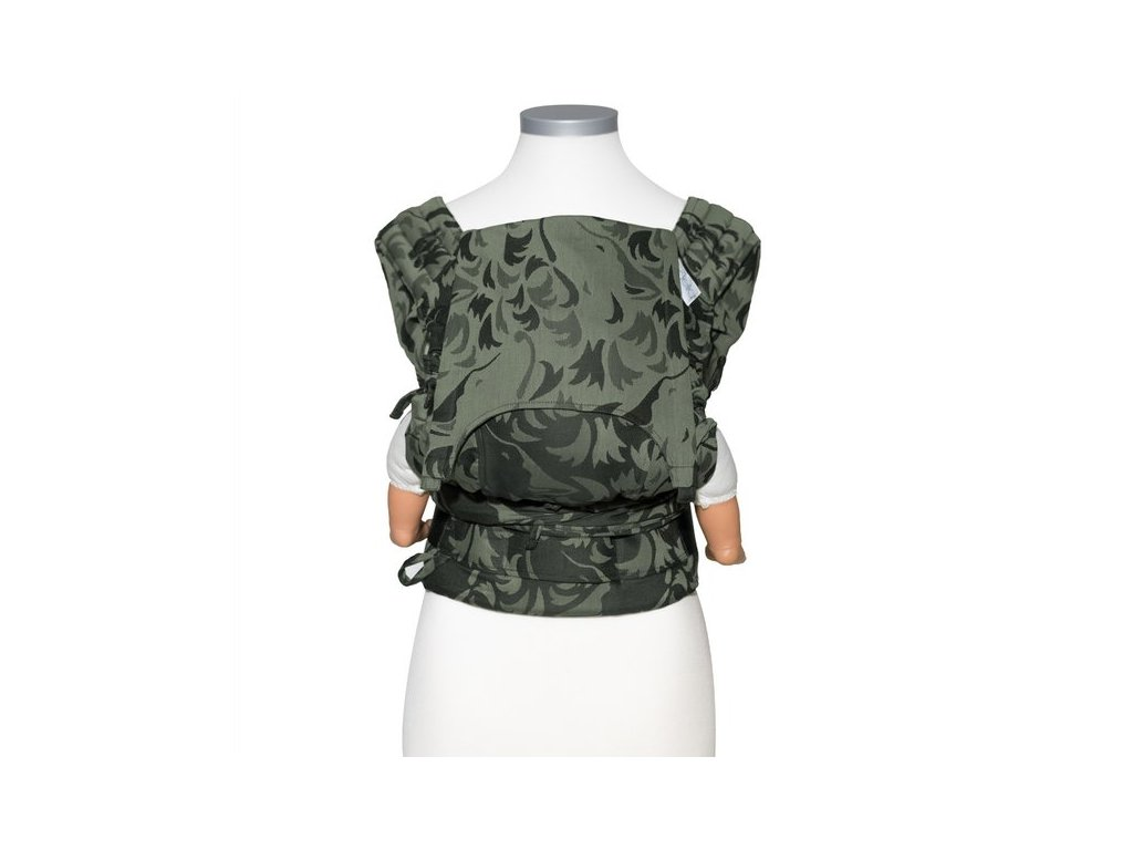 fidella flyclick baby carrier classic wolf reed green
