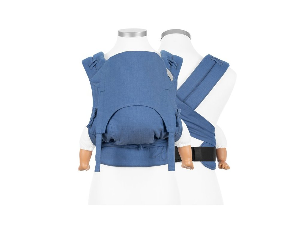 fidellaz flowclick halfbuckle baby carrier chevron light blue baby