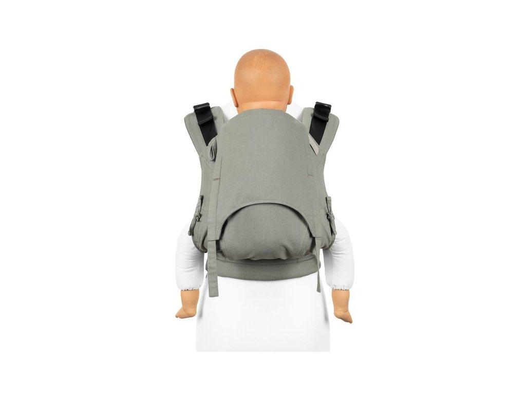 fusion v2 full buckle tragehilfe chevron graugrun toddler