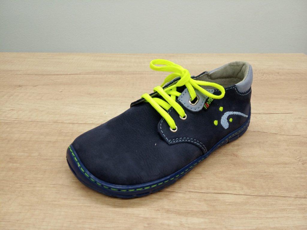 Fare Bare dětské celoroční barefoot boty s tkaničkami 5212201
