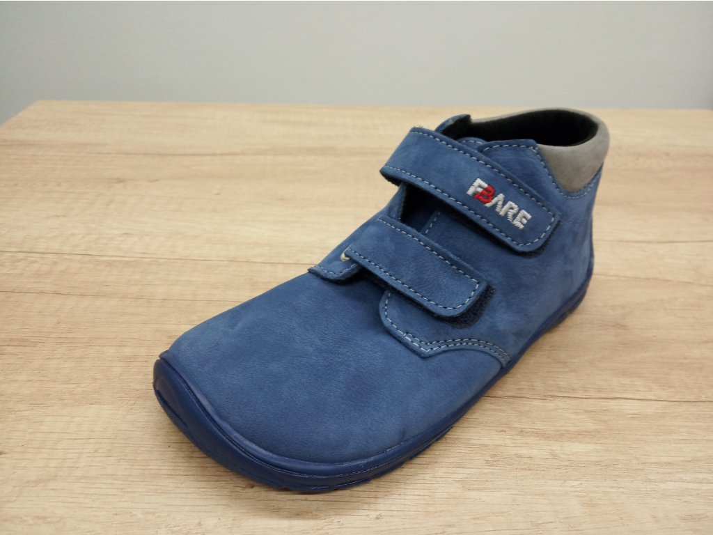 Fare Bare vyšší dětské celoroční barefoot boty s flísem 5221202
