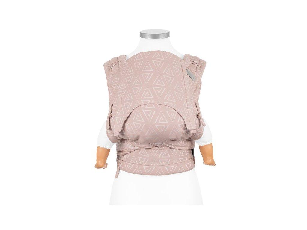 ergonomické nosítko fidella flyclick halfbuckle baby carrier paperclips ash rose baby