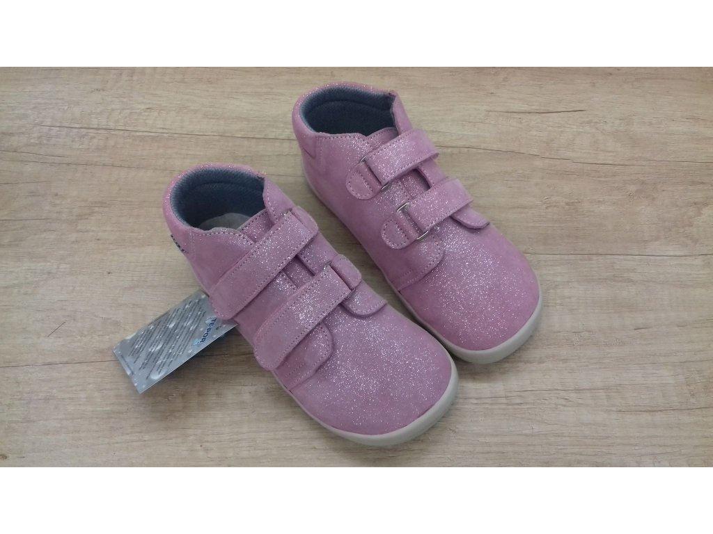 Beda celoroční barefoot obuv Janette vyšší  s membránou na suchý zip