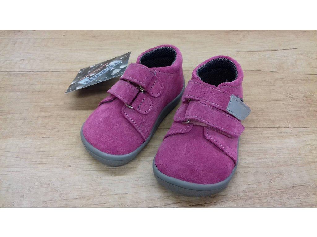 Beda celoroční barefoot obuv Rebecca vyšší s membránou na suchý zip